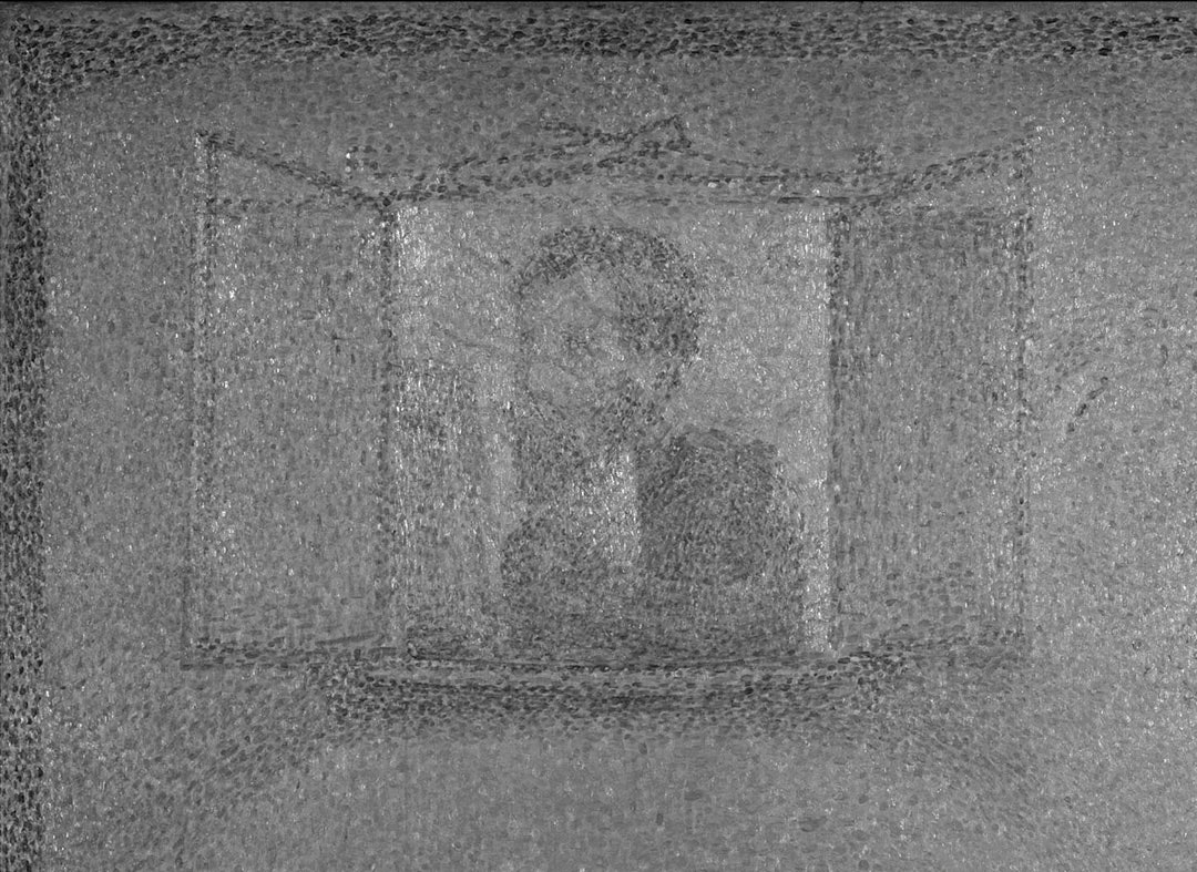 Фрагмент «Пудрящейся женщины» Жоржа Сёра