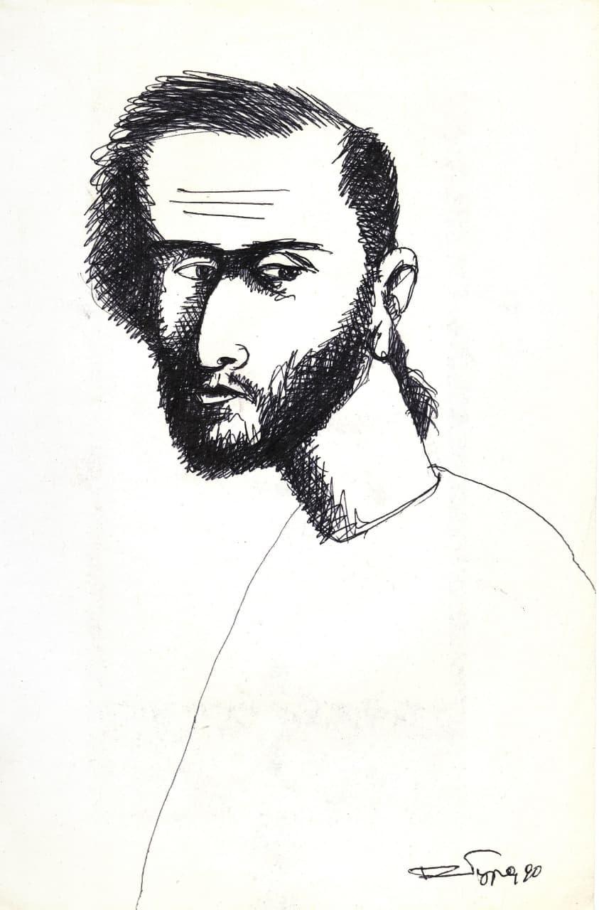 О. Ройтбурд, Автопортрет, 1990
